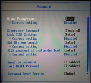 Hdd Passwort Zurucksetzen Thinkpad Wiki